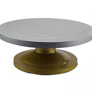 Revolving Metal Cake Table